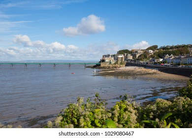 Clevedon Somerset coast town near Bristol and Weston-super-mare uk