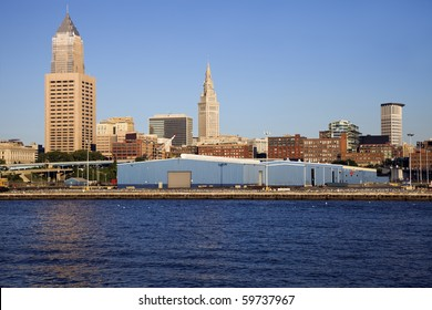 CLeveland buiildings seen from Lake Erie