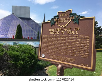 Cleveland, OH / USA - August 2018: The Rock and Roll Hall of Fame opened on September 1, 1995, and now receives thousands of visitors per day.