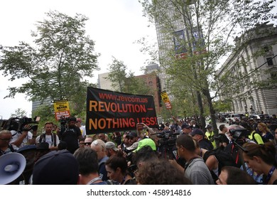 CLEVELAND - OHIO - JULY 20 2016: Thousands of delegates, activists, spectators & law enforcement from all over the US descended onto Cleveland for the RNC.