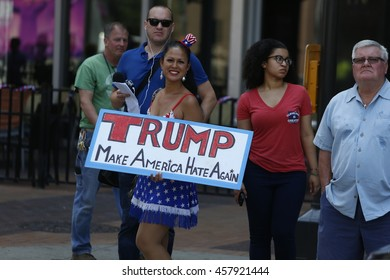 CLEVELAND - OHIO - JULY 21 2016: Thousands of delegates, activists, spectators & law enforcement from all over the US descended onto Cleveland for the RNC. Marni Halassa