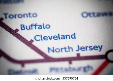 Cleveland, Ohio on a geographical map.