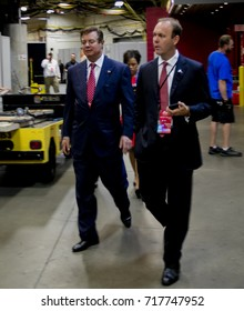 Cleveland Ohio, USA, 21th July, 2016 Paul Manafort Donald Trump's campaign manager walking backstage of the Quicken Arena during the Republican National Convention
