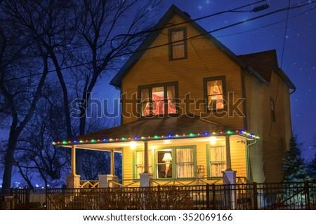 cleveland ohio usa december 4 2015 stock photo edit now 352069166 shutterstock - Where Was The Christmas Story Filmed