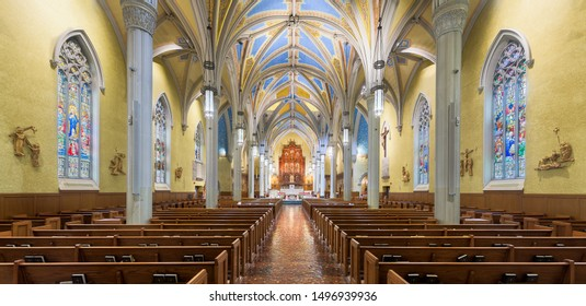 CLEVELAND, OHIO/USA - July 11, 2019: Interior of the Cathedral of St. John the Evangelist on Superior Avenue in Cleveland