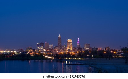 Cleveland Skyline at Twilight