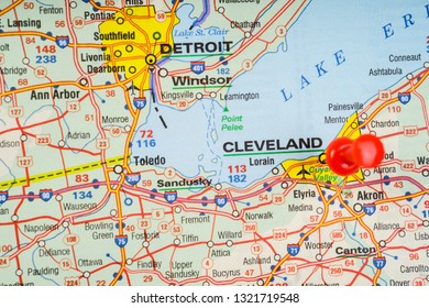 Cleveland Map Images, Stock Photos & Vectors | Shutterstock on