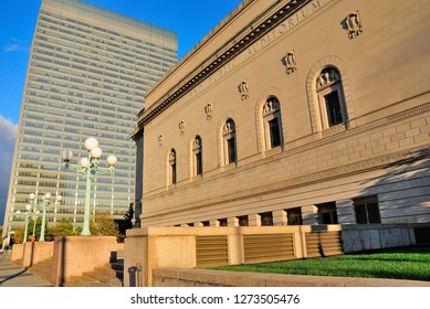 Cleveland, USA - October 21, 2018 - Public Auditorium (also known as Public Hall) building in Cleveland, Ohio
