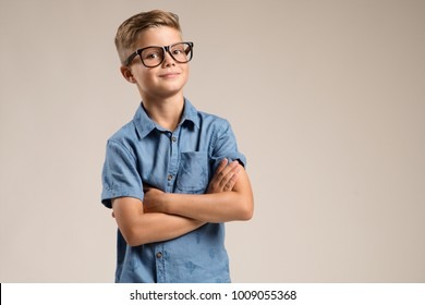 Clever happy kid