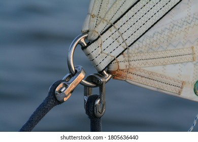 Clew of a Jib (sail) with sheet