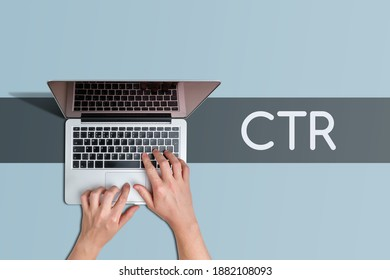 Click through rate CTR metric for marketer.