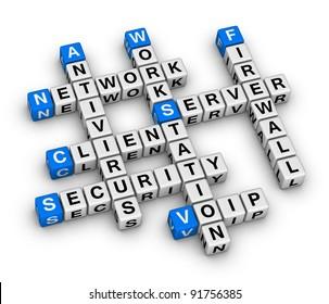 client server crossword