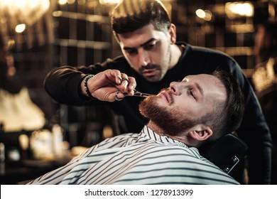 Clients in barbershop