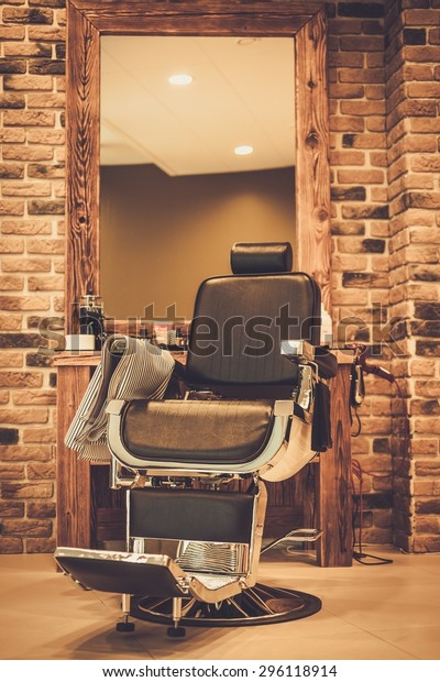 Client's chair in barber shop