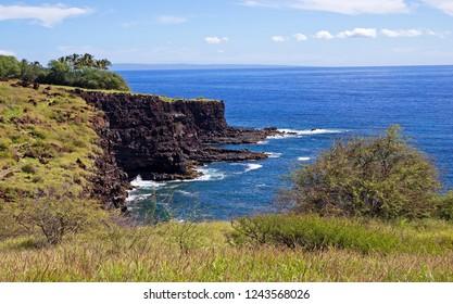 Cliff by the sea taken on Lanai island, Hawaii