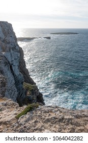 Cliff at the Cape of Cavalleria, Menorca, Balearic Islands, Spain