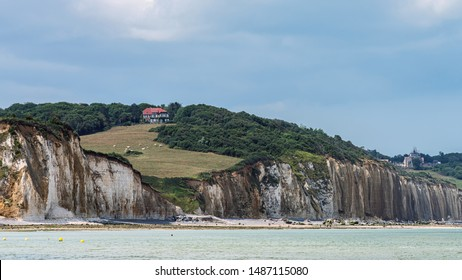 Cliff coast in the area of Dieppe, Normandy, France