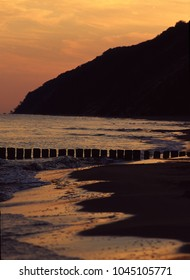 Cliff coast in Wolinski National Park, Baltic Sea, Miedzyzdroje, Poland