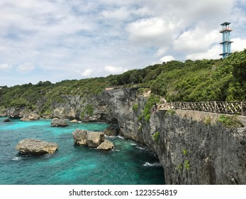 It's a cliff with a crystal clear beach in Appalarang Bulukumba Sulawesi Indonesia where you can jump and swim in the super clear and fresh water