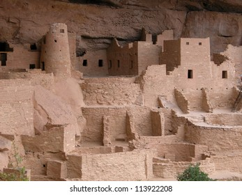 Cliff dwellings at Colorado's Mesa Verde National Park are approximately 800 years old.