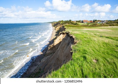 The cliff in Ertebolle, Limfjord, Jutland, Denmark