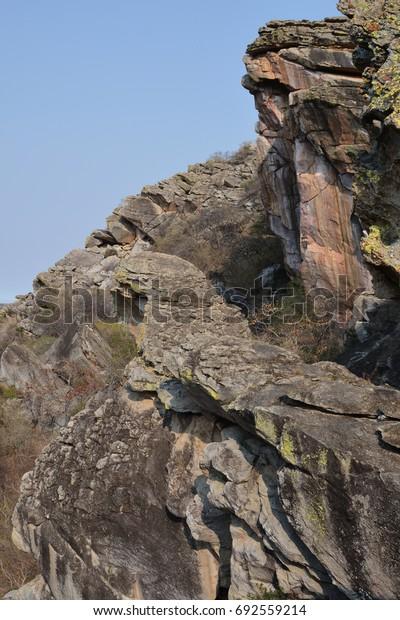 Cliff of Female fill, Tsodilo Hills, UNESCO World Heritage Site, Botswana, Africa