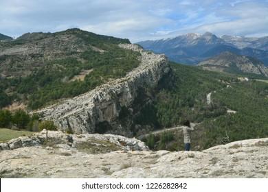 Cliff formations near Pedraforca, Spain