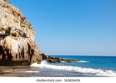 Cliff and ocean at Gran Canaria island.