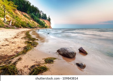 Cliff of Orlowo at Baltic sea, Poland