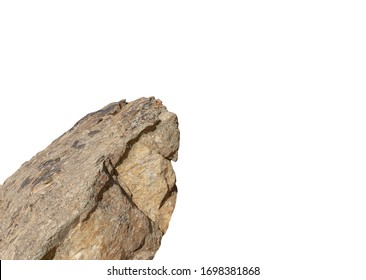 Cliff rock stone part of mountain isolated on white background