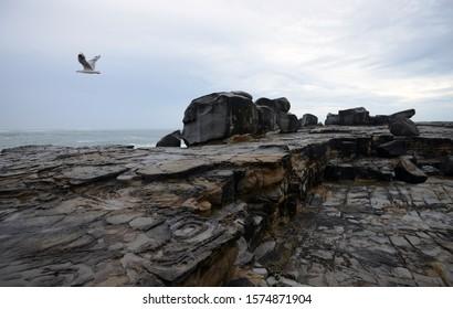 Cliff rocks formation Yamba Australia