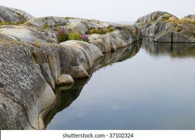 Cliff in Stockholm archipelago