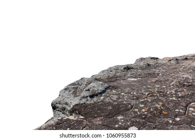 Cliff stone isolated on white background.