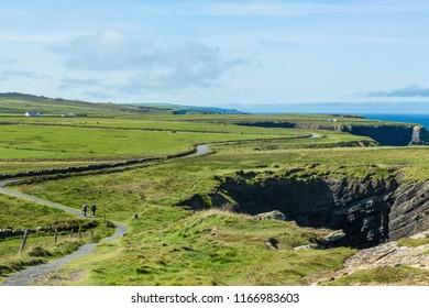 Cliff walk, Kilkee county Clare, Ireland, August 2018.