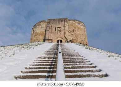 Clifford's Tower York in the Snow