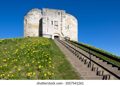 Clifford's Tower, York in the Spring
