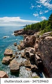 Cliffs at Acadia National Park, Bar Harbor, Maine