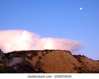Cliffs along the Pacific Ocean