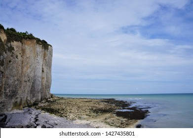 Cliffs at the beach of Grandes Dalles Normandy France at low tide
