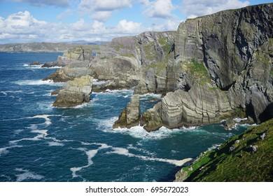 Cliffs by the coast of Atlantic Ocean, Ireland