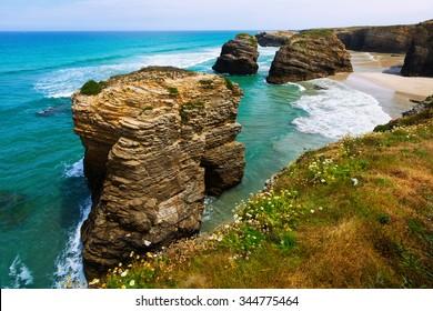 Cliffs at Cantabric coast of Spain.  Galicia
