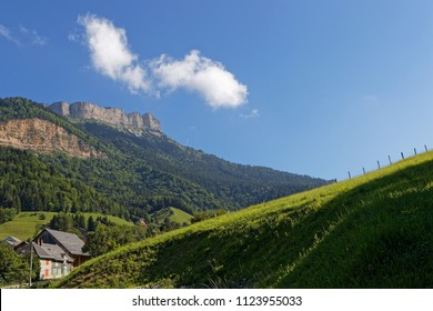 The cliffs of Chamechaude summit in Chartreuse mountain range