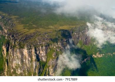 Cliffs close to Canayma National Park, Venezuela.