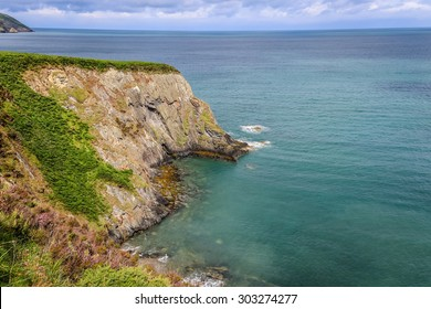 Cliffs, coastline and the ocean in the British Isles. Image taken in Newport, Pembrokeshire, Wales.