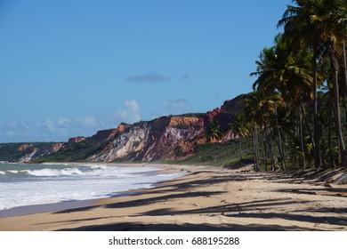 Cliffs in Coqueirinho Beach
