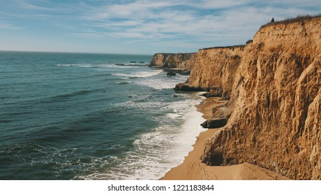 The cliffs at Davenport California in the early days of November. Out near the abandoned pier with a swing