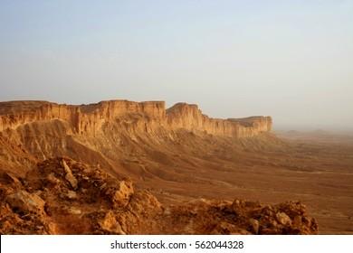 Cliffs of the Edge of the World in Saudi Arabia outside of Riyadh