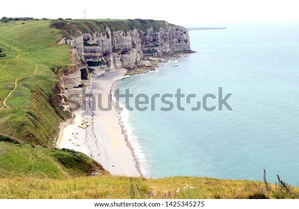 Cliffs Etretat Normandy Stock Photo Edit Now 1425345275