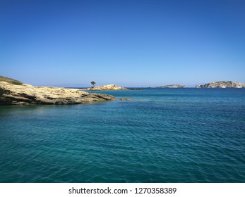 Cliffs in Greek island