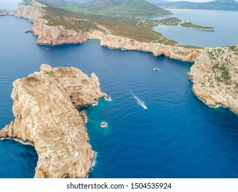 cliffs of the grotto of neptune in sardinia